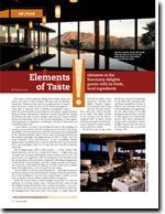 Elements At The Sanctuary Delights Guest With Its Fresh, Local Ingredients, 2008