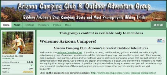 Arizona Camping Club & Outdoor Adventure Group