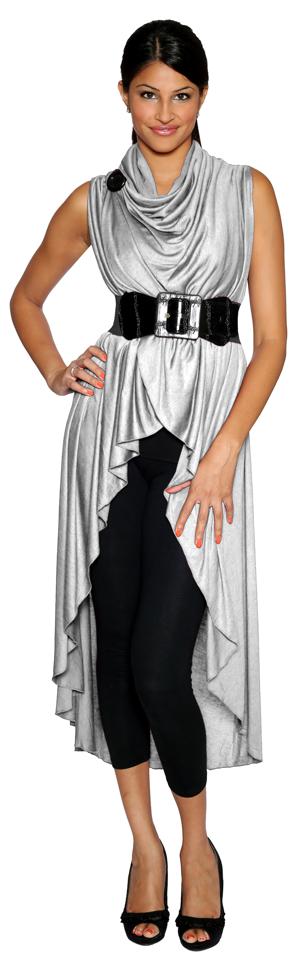 Shawl Dawls' Long Tunic, Silver