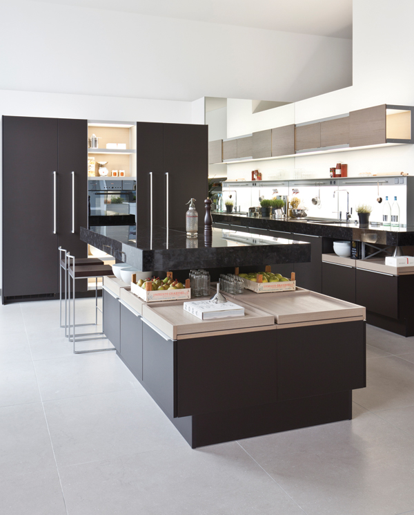 Poggenpohl's +MODO kitchen is centered around the island, which has plenty of surface area and storage.