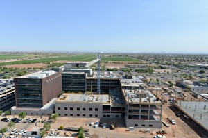 Banner Estrella Hospital, in Phoenix, during construction phase. Courtesy of McCarthy