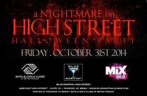 MIX 96.9 Nightmare on High Street Halloween Event @ Blue Martini Lounge | Phoenix | Arizona | United States