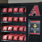 Fans can Tweet a specific hashtag made available for through the vending machine to earn prizes. (Photo by Olivia Demetros, Arizona Diamondbacks)